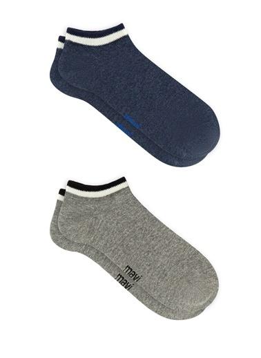 Mavi Erkek  Çizgili İkili Çorap 092136-18790 İndigo